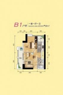 1、2号楼B1户型