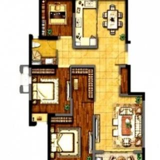 113平3房户型