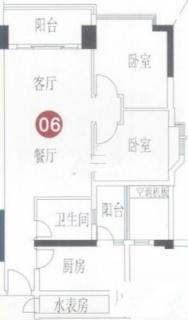 A8栋7-31层06单元户型