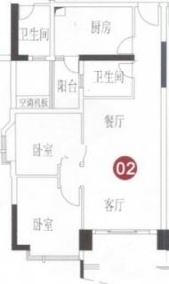 A8栋7-31层02单元户型