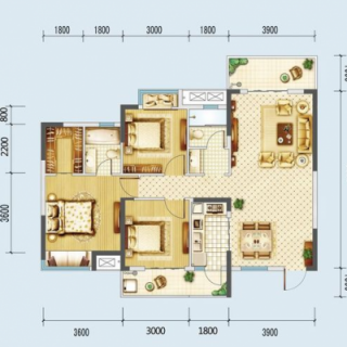 A1、A2号楼120平米户型