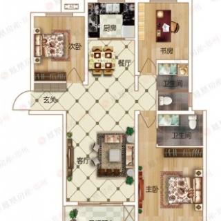 3室2厅2卫C3户型