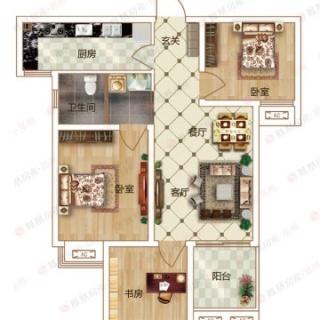 3室2厅1卫B2户型