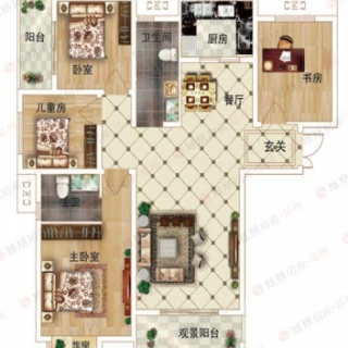 4室2厅2卫D2户型