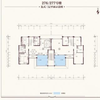 洋房276#、277#复式三层