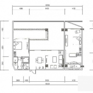 K9户型2房2厅1泳池约135㎡