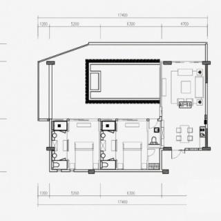 K11户型2房2厅1泳池约132㎡