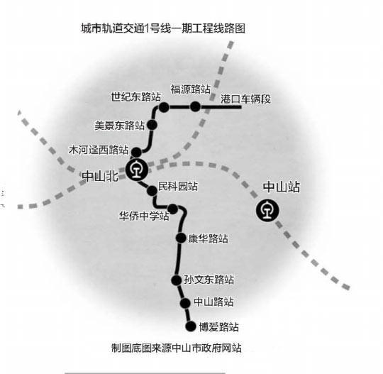 中山城轨1号线明年动工将接驳广州地铁18号线_1