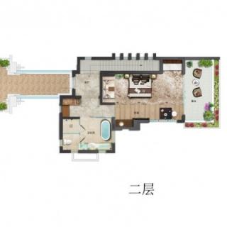 别墅B户型二层