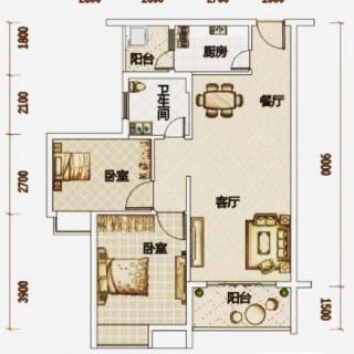 高层公寓1#B07户型