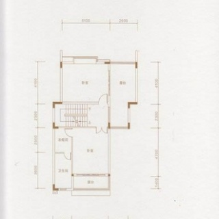 D户型三层平面图