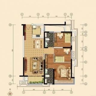 118平米三房户型