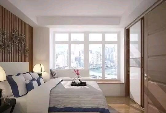 飘窗小书房卧室设计