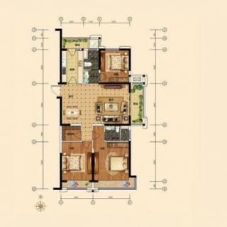 140平米三房户型