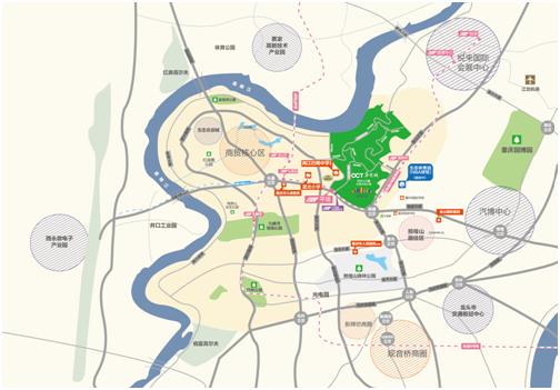 重庆蔡家中心地图