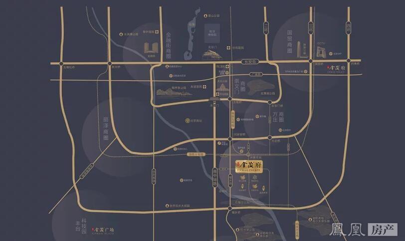 北京金茂府規劃圖2