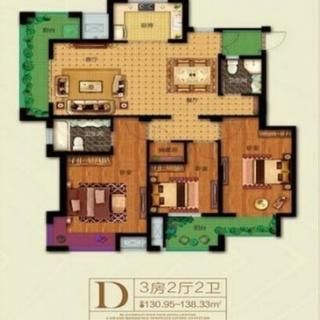138平3房D户型