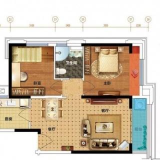82平米两房户型