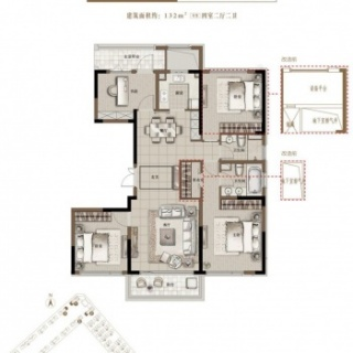 D3 132平米四室两厅两卫