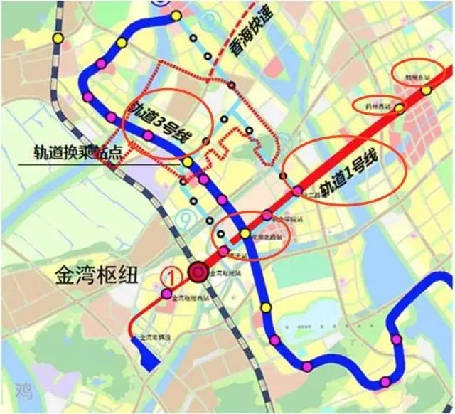 规划显示,轨道交通3号线并未显示完整路线,图上显示会经过鹤州南