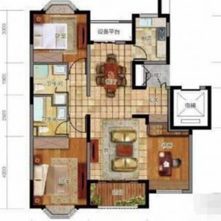 3室户型图