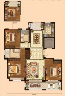 三室两厅两卫137平