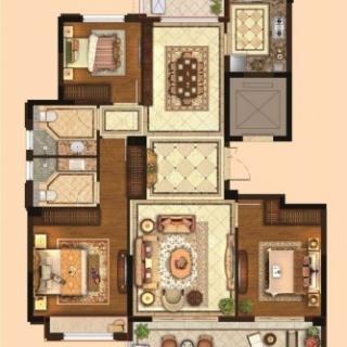 三室两厅两卫128平