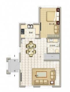 联排别墅北175平一层改造后