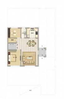 联排别墅190平米户型一层