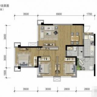 4、8栋标准层A2户型