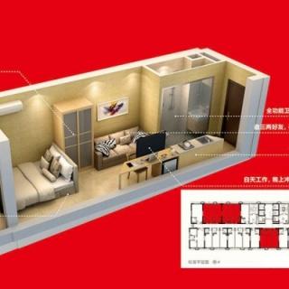 3座约31平公寓一室