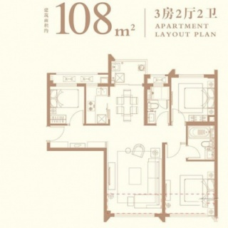 108平户型图