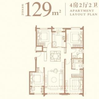 129平户型图