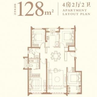 128平户型图