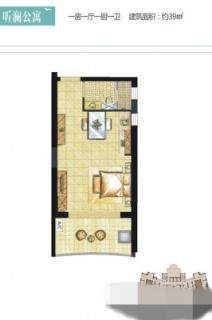 听澜公寓E2-5户型