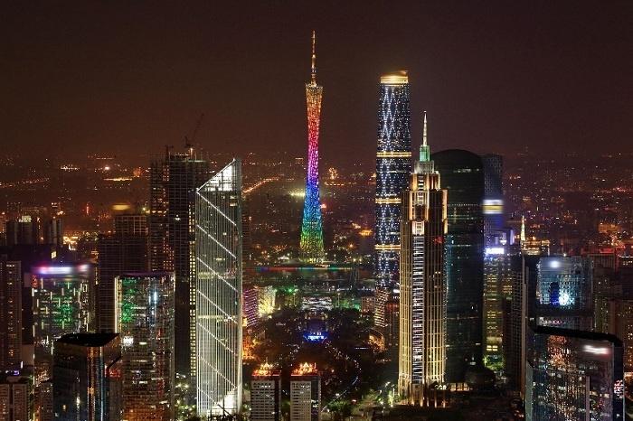 广州著名地标 手绘