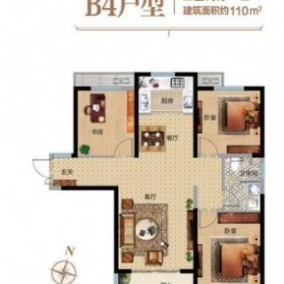 3室2厅1卫B4户型