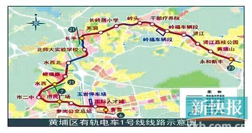 线路沿开萝大道,香雪大道,水西路,规划外环路,北师大二纵路西侧,长岭