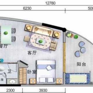 酒店式公寓、酒店B户型