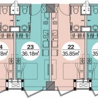 公寓35.85-36.78平米