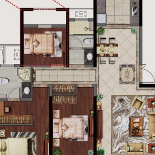 132三房两厅两卫