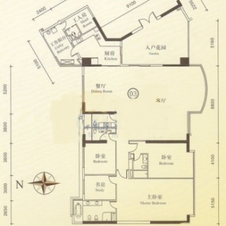 B栋12-28层03单位