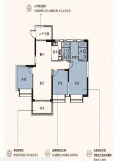 C2区10、11、12栋建面124平户型