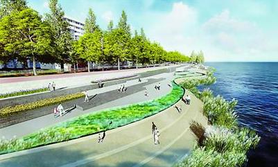 购房 热盘导购  目前,南门沿江景观大堤是一条能抗百年一遇高潮位