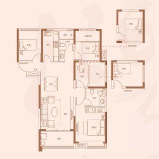 高层131平米户型