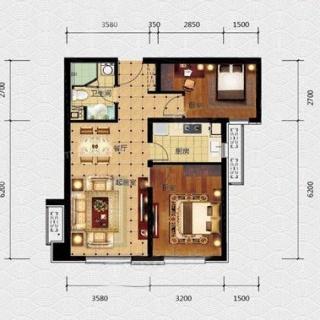 标准层88平米A3户型