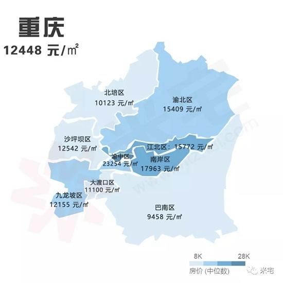 8月房价地图发布 青岛均价18322元/㎡环比涨0.52%