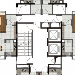 16栋2~22层效果图