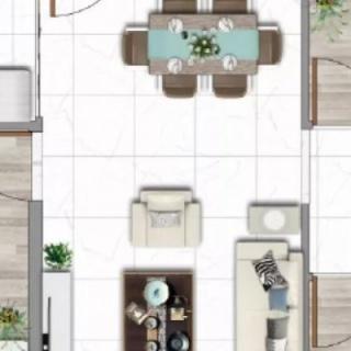 建面100平三房户型