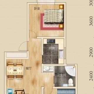 两室两厅一卫 100平